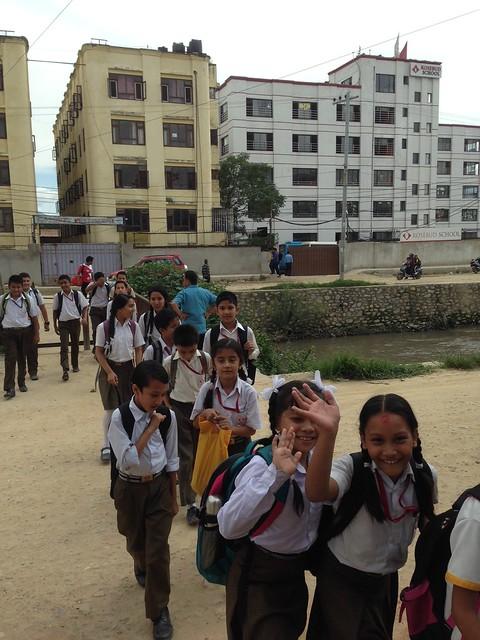 Kathmandu: Children in school uniforms