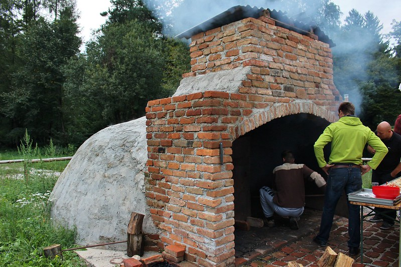 The huge pizza oven