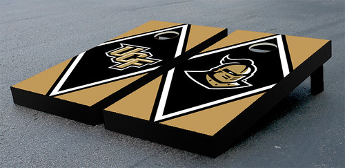 University of Central Florida UCF Knights Cornhole Game Set Diamond Wooden