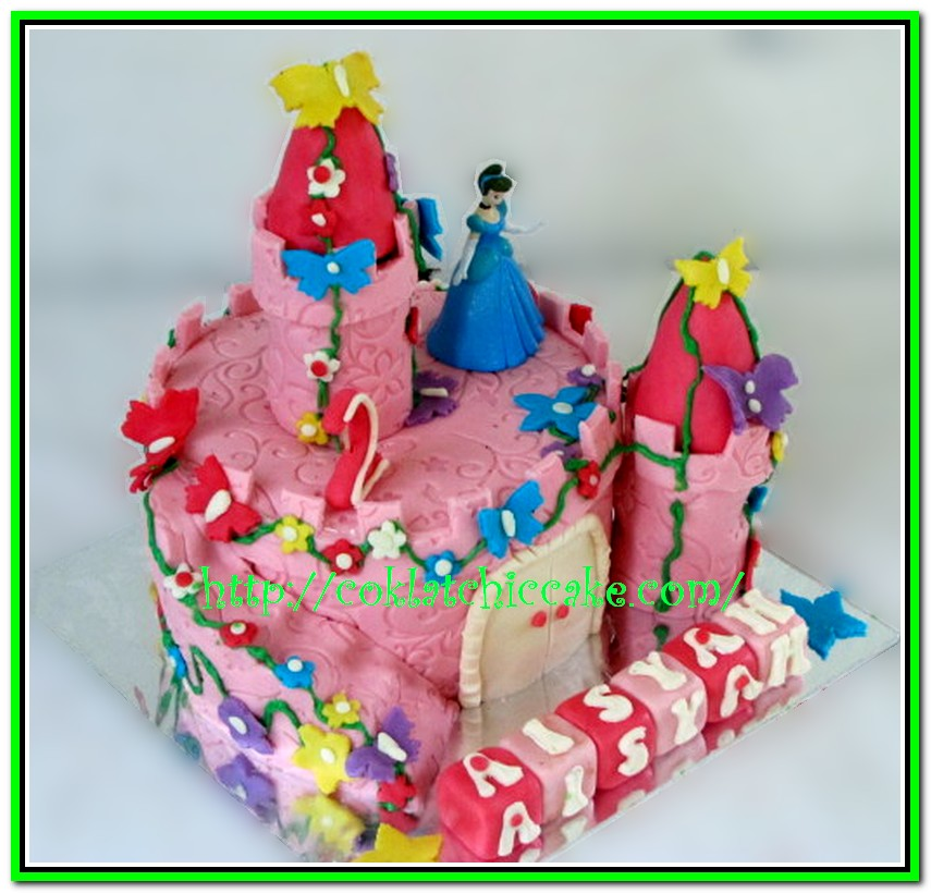 Kue ulang tahun castle princess