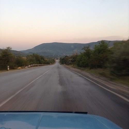 Утренняя горная дорога в аэропорт #крым #путешествия