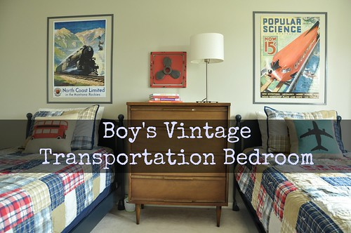 Boy's Vintage Transportation Bedroom