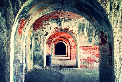 Fort Morgan 2008', casemate archways
