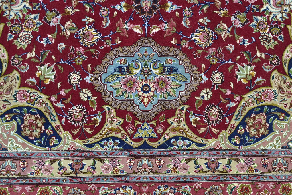 Semi Antique Qareh Baghi 70 Raj Persian Tabriz Rug