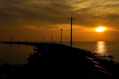 sunset japan seashore 夕景 海 福井 日本海 三国