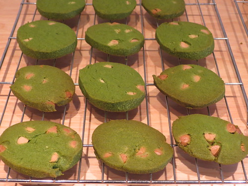 Cooking: Matcha & White Chocolate Sable