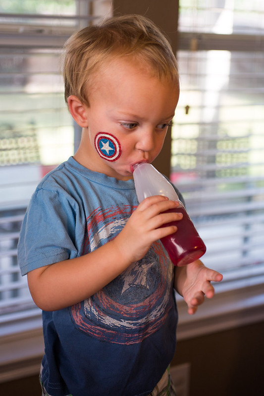 Toddler at Captain America Party #HeroesEatMMs #Shop