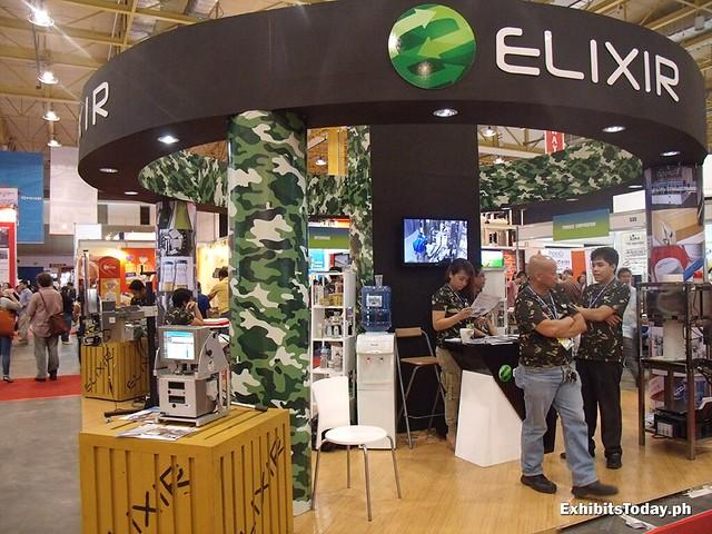 Elixir Exhibit Stand