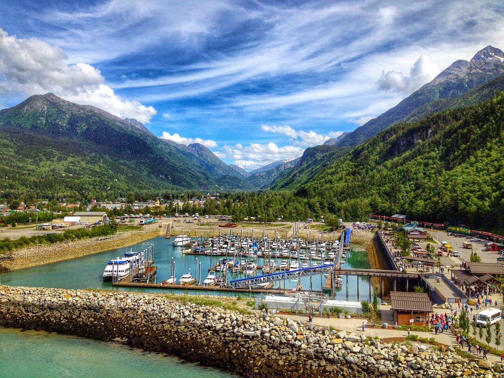 Port of Skagway in Alaska