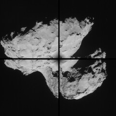 Comet 67P NAVCAM montage of images taken on 31 August 2014