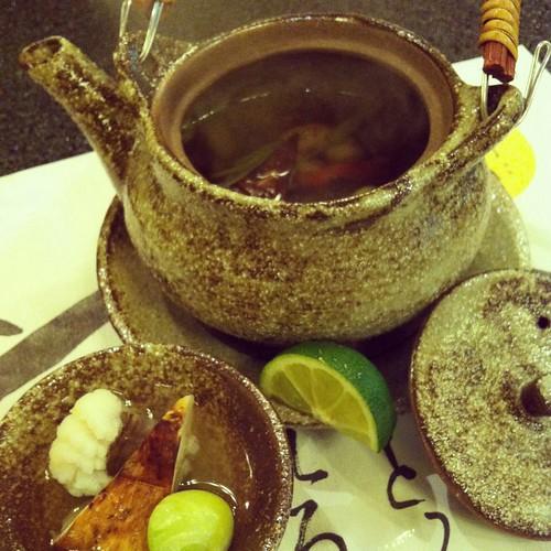 碗物  松茸土瓶蒸し  松茸  鱧  銀杏  巻海老