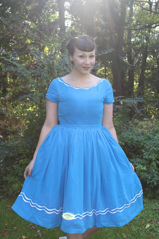 blue baker dress modcloth