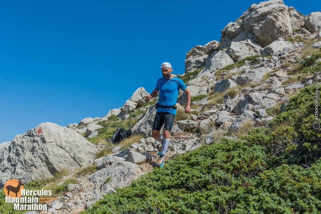 Εντυπωσιακός ο Σταύρος Στεφανής, εδώ κατά την κατάβαση από το Γρεβενό (2.114μ)