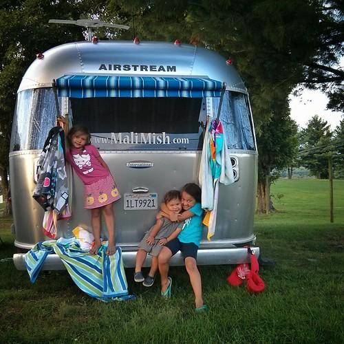 Airstream kids. #malimishkids #airstream #liveriveted #childhoodunplugged