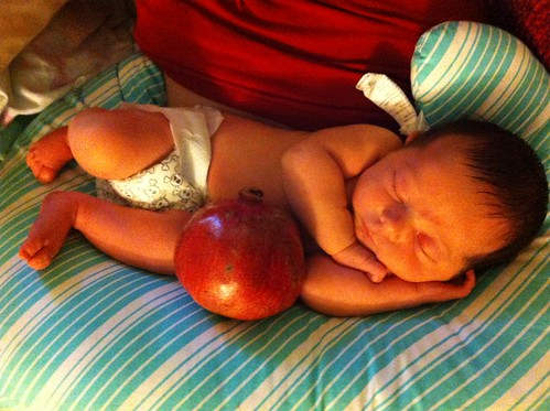 Persephone and her pomegranate.