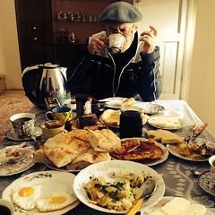 Graf Oto has breakfast #mestia