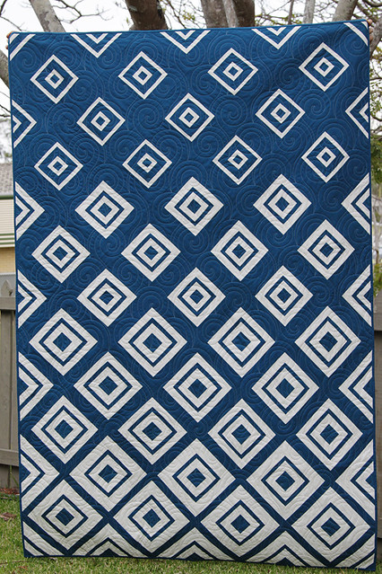 Diamonds In The Deep Navy Quilt