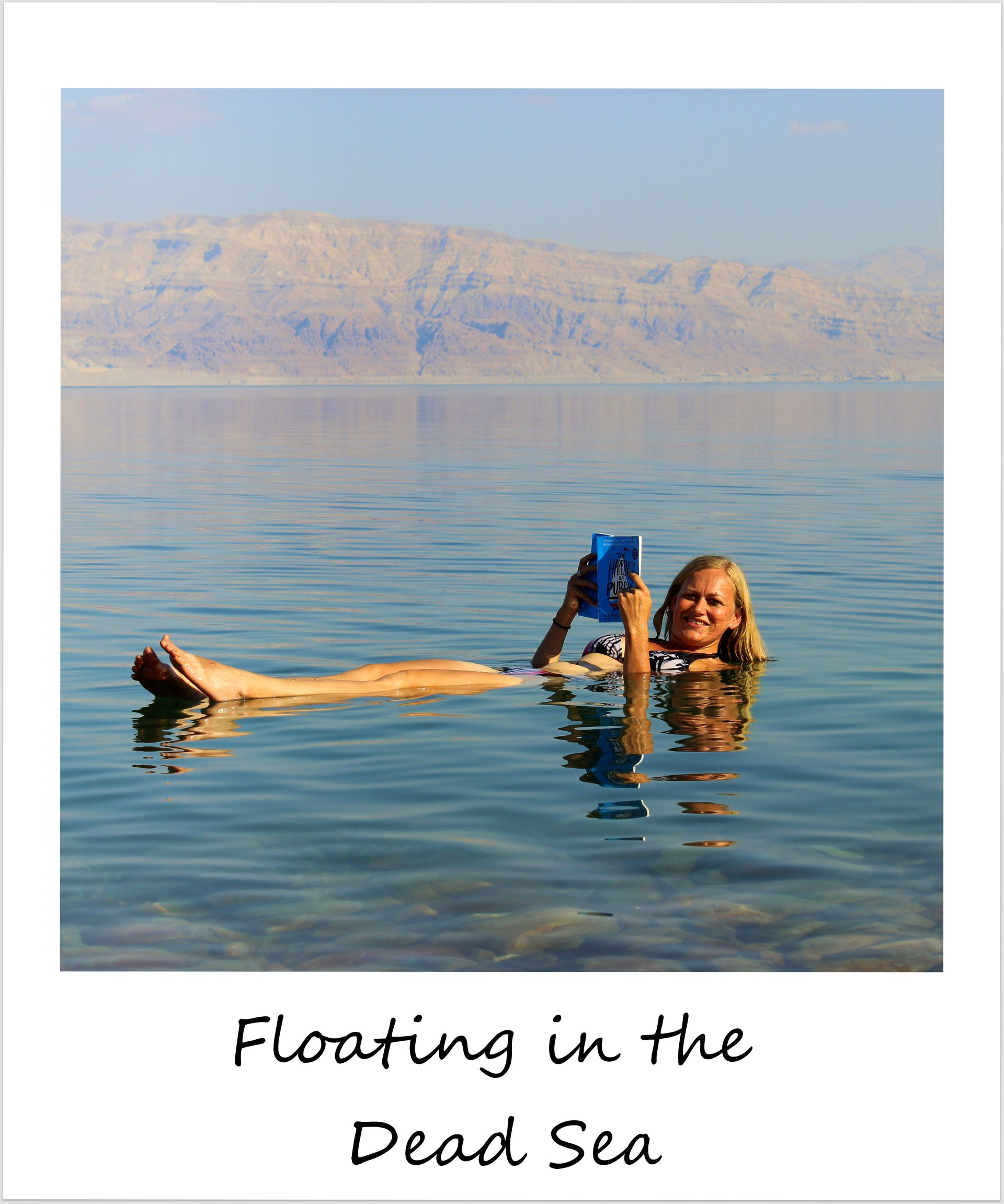 polaroid of the week israel dead sea