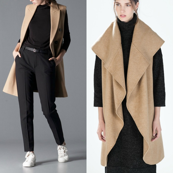 abrigo sin mangas zara