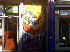 Rotten Winnie the Pooh graffiti, Mission Street, the Mission, San Francisco, CA, USA