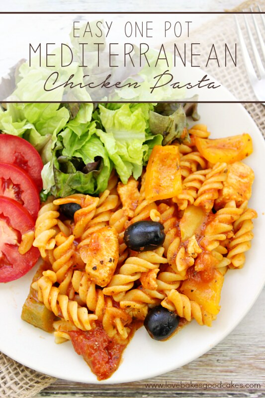 Get dinner on the table quick with this Easy One Pot Mediterranean Chicken Pasta #ChooseSmart #CollectiveBias