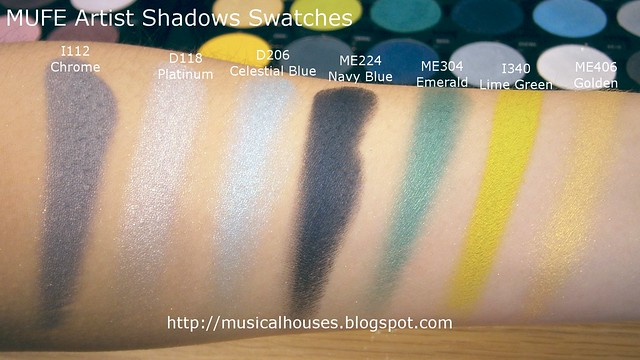 MUFE Artist Shadow Eyeshadow Swatches 1 Row 3