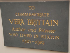 Photo of Vera Brittain slate plaque
