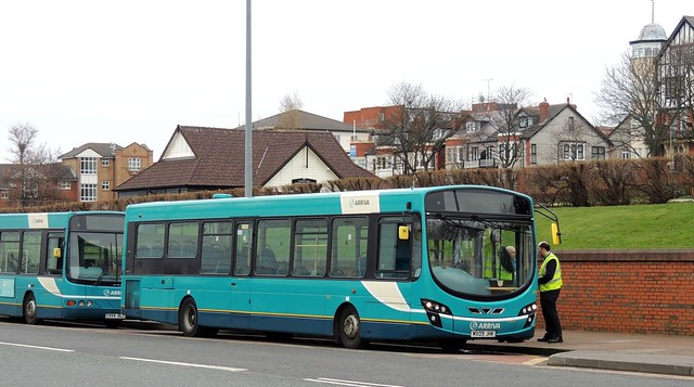 Arriva NW 2955 MX09JHK Kings Parade, New Brighton 13 March 2017