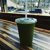 Just add green -#kale in my #mango #ginger smoothie. #lunch #golcalboston #newtonma #juicebar
