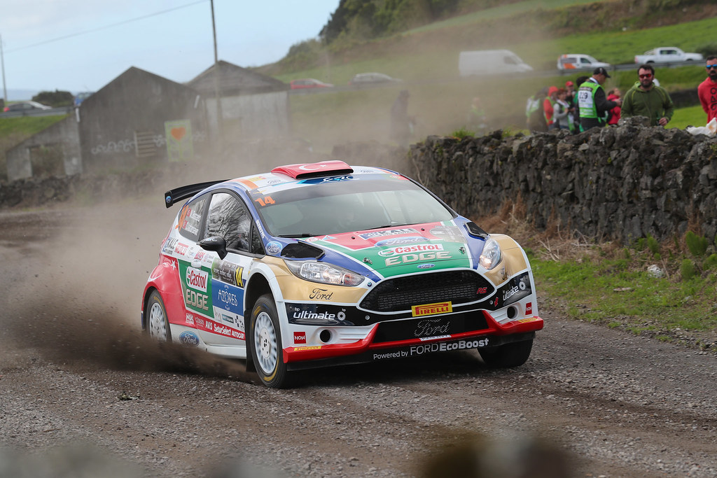 14 BOSTANCI Murat VATANSEVER Onur Ford Fiesta R5 Action during the 2017 European Rally Championship ERC Azores rally,  from March 30  to April 1, at Ponta Delgada Portugal - Photo Gregory Lenormand / DPPI