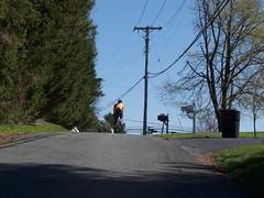 Tom Climbs ahead