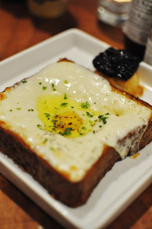 truffled egg in the toast