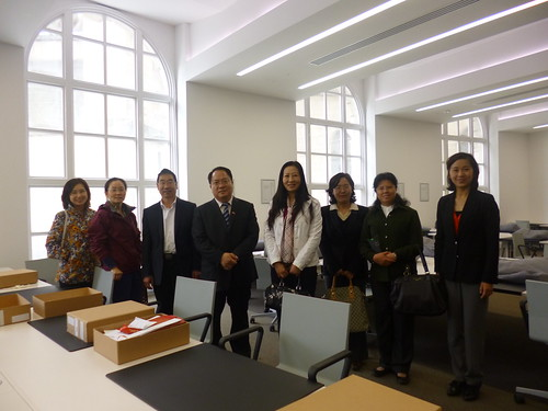 Chinese consulate visit to Archives+ search room