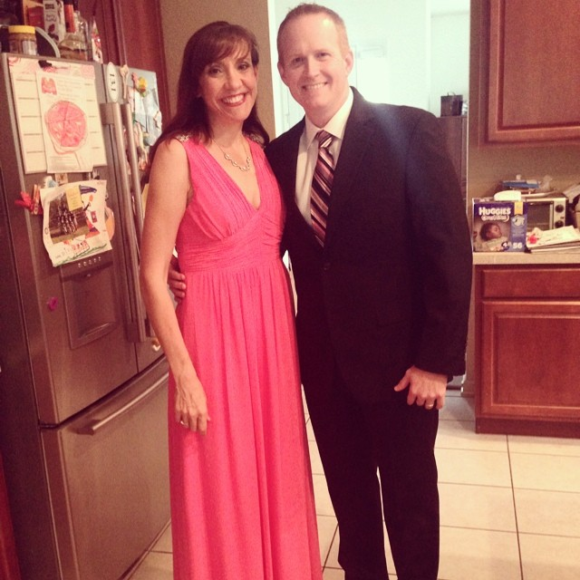 Off to the Army Ball. It's like prom... When you're {almost} 36.