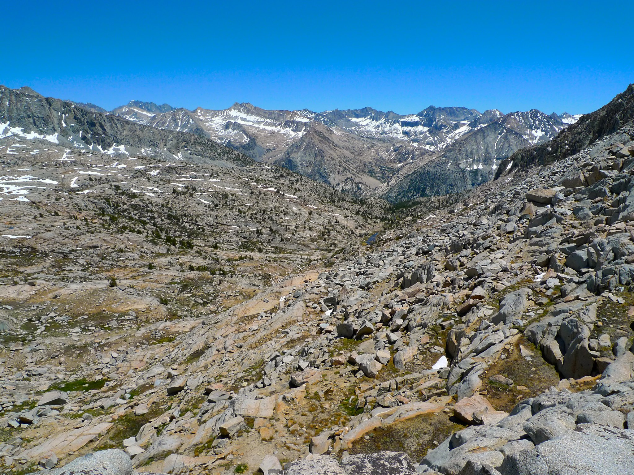 View of Palisade Basin from Knapsack Pass