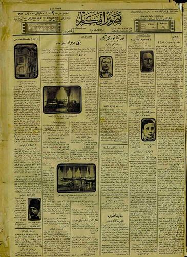Tasvir i efkar, 16 February 1919 (Collection National Library Turkey)