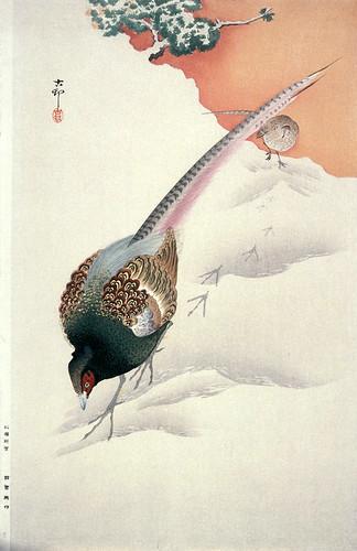 011-Faisanes en la nieve-Ohara Koson-via Lacma