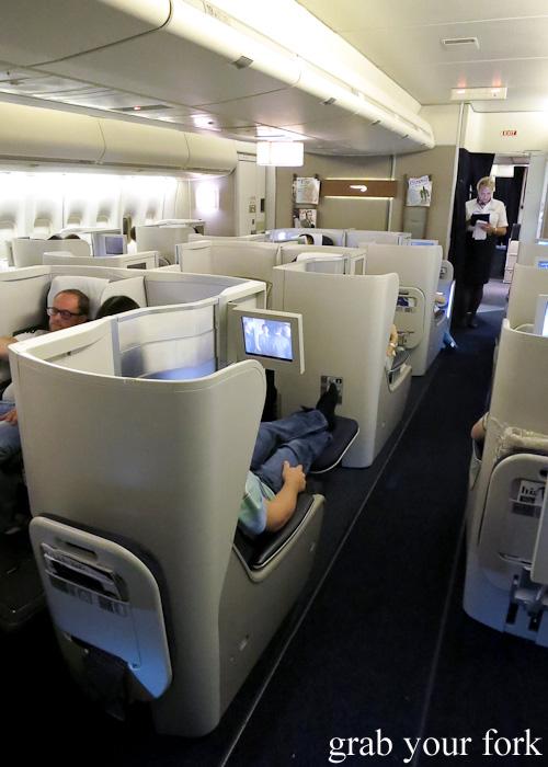 British Airways business class pod seating