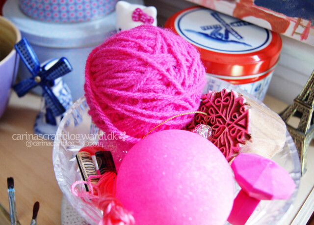 Pink things in a bowl