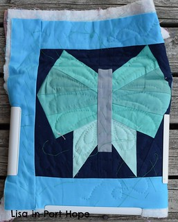 butterfly hand quilting July 1 2014