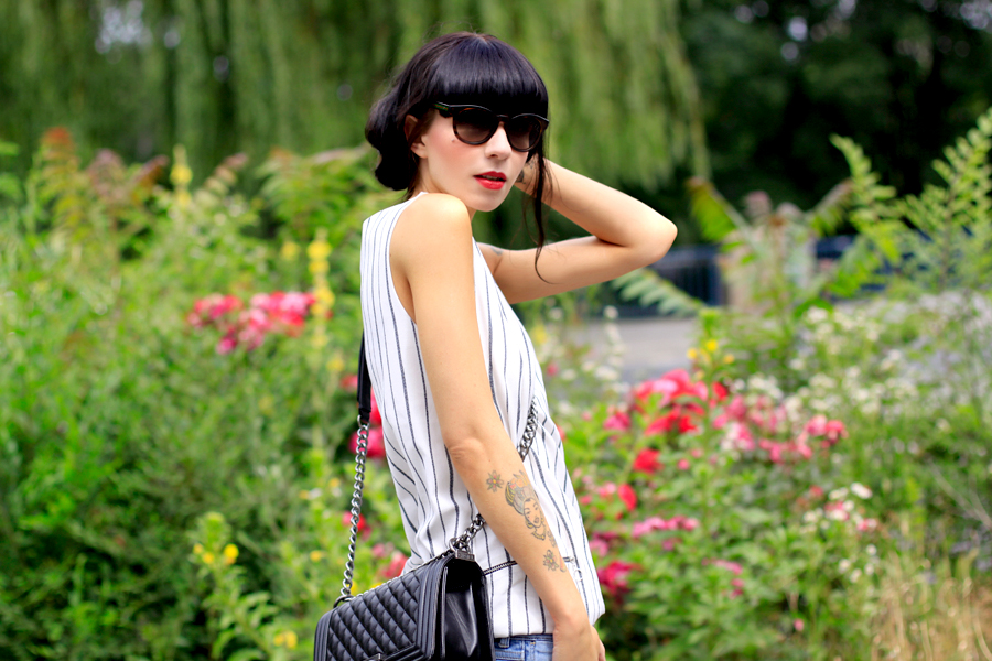Urban Garden Zara dress worn as top jeans high heels summer outfit OOTD CATS & DOGS Ricarda Schernus berlin fashion blogger 2