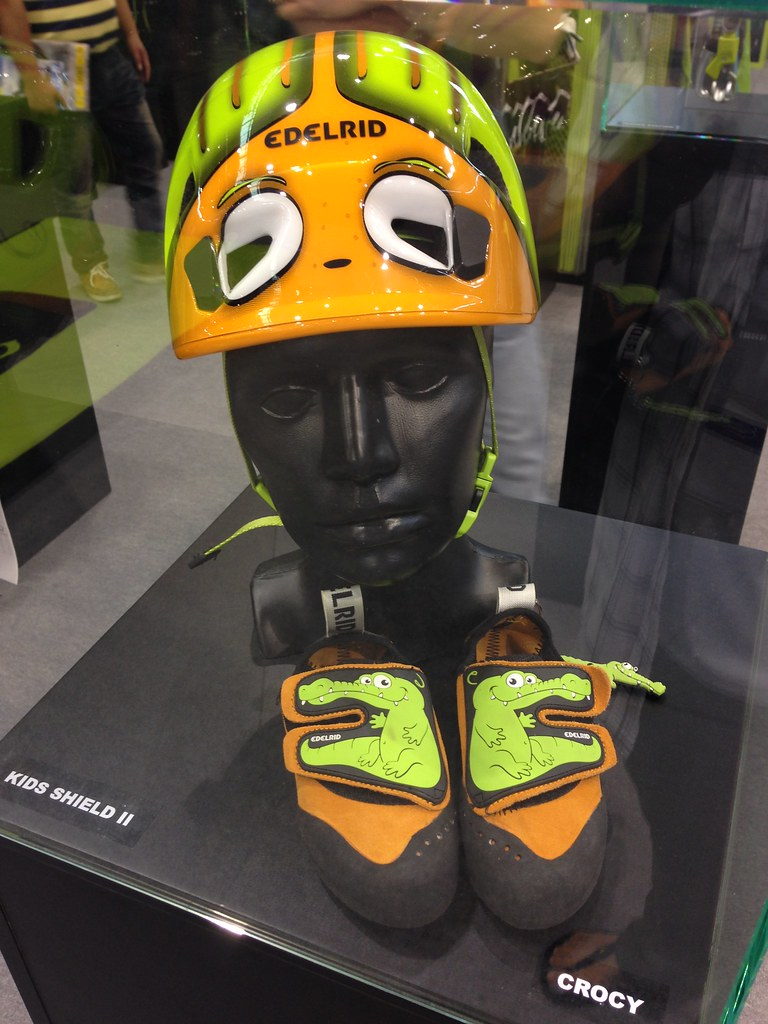 Edelrid Kids climbing shoes and helmet