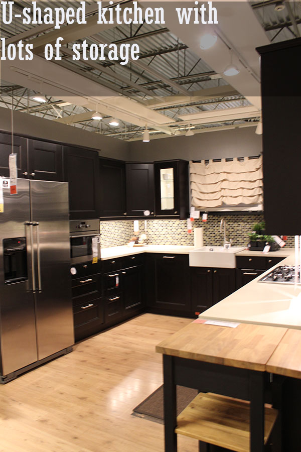 u shaped kitchen ikea
