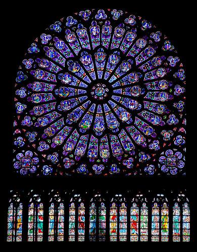 Rosetón Norte de la Catedral de Notre Dame