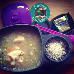 Loving my #worklunch for tonight… @kambrookau #soupsimple chicken noodle in #compleatenergybooster from @biome_eco_stores. spoon from @little_bento