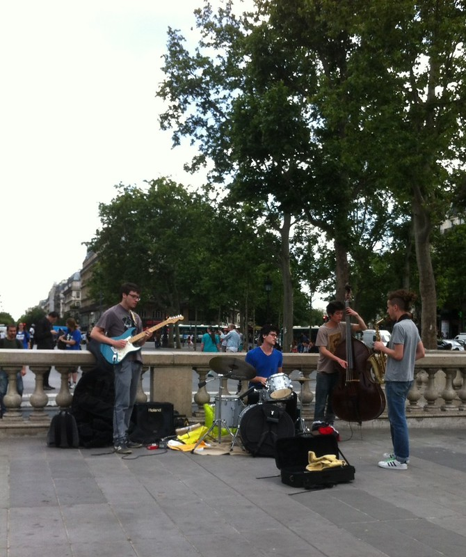 Music in the Place de la Republique