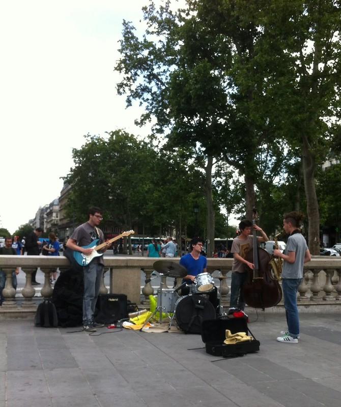Music in the Place de la Republique