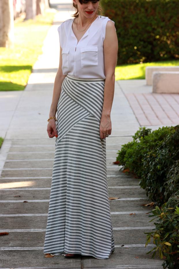 Striped Maxi Skirt, Target