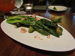 Asparagus with Green Goddess Dressing and Nuts at Yew