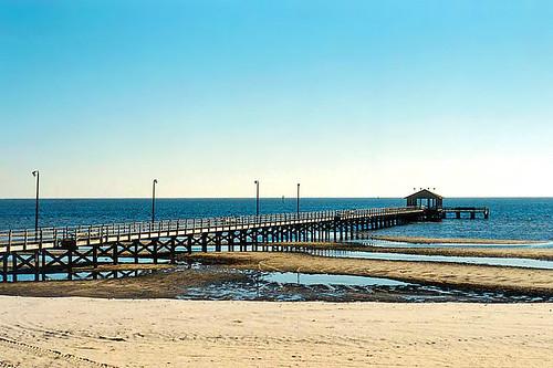 2001 beach gulfofmexico mississippi pier waterfront biloxi seashore